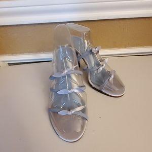 Liz Claiborne Blue Heeled Sandals
